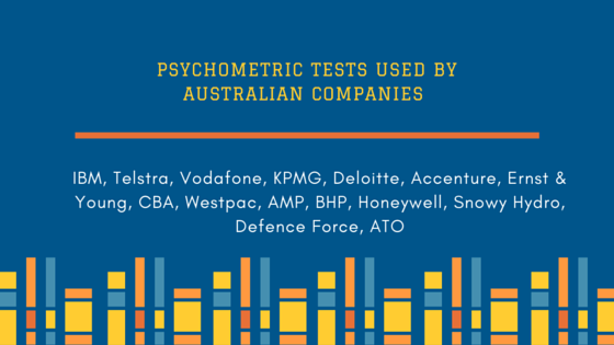 Australian companies using psychometric tests for recruitment