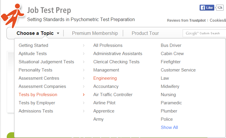 psychometric tests by professions