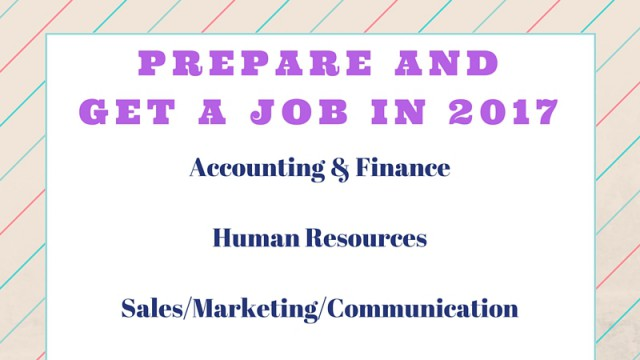 PREPARE and GET A JOB in 2017