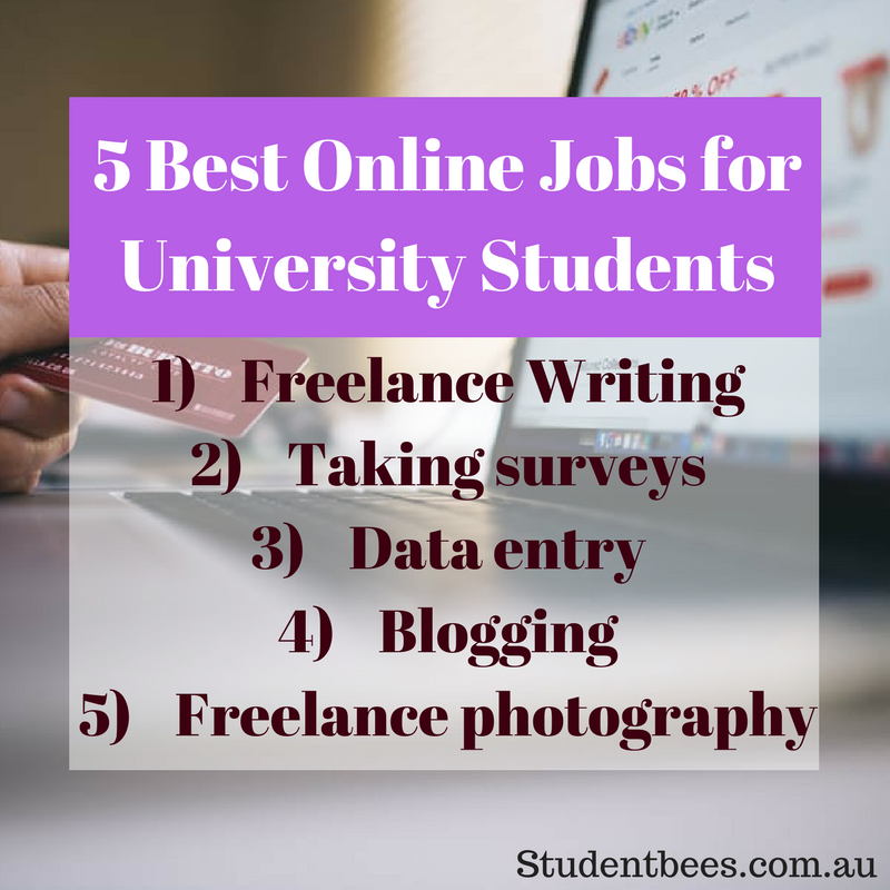 online jobs, online job, university students